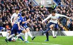 The midfielder then struck his second and Spurs' third after managing to control the ball inside the Chelsea area