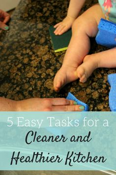 5 easy tasks you can do make your kitchen healthier and cleaner in no time. #ScotchBriteSponges #ad