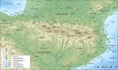 Pyrenees topographic map-pl - Pireneje – Wikipedia, wolna encyklopedia