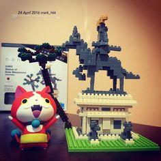 Statue of Date Masamune, #伊達政宗騎馬像 #ナノブロック #microsizedbuildingblock #世界最小級ブロック #instananoblock #kawada #kawadananoblock #nanoblock #4896small #我总是一个人在练习一个人