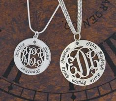 Mother's Name Necklace Pendant w/ Child Names--someone show NICK!