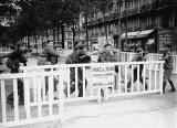 World War II. Park reserved to the children and forbidden to Jewish people. Paris, November 1942.