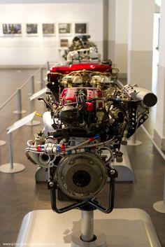 Nissan Engine Museum - SR20 DET and RB26 DETT - Front-on shot 1