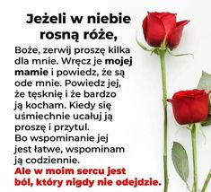 Miss You Mum, Messages, Bible, Polish Sayings, Quotes, Text Posts, Text Conversations