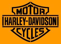 Harley Davidson logo (1 overlay) stencil