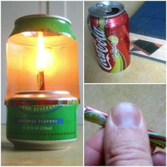 There are many ways for you to provide illumination in an emergency. If you are off-grid, then you are in luck as you can easily make an aluminum can lamp.