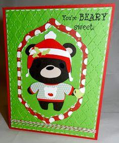 Teddy Bear Card made with the Cricut Teddy Bear Parade and CardzTV Stamps.