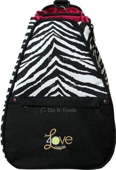 40 Love Courture Zebra Tennis Backpack by 40Love Courture. $194.99. Elizabeth Backpack in Bamboo Pattern with Red lining and Red/Black accents. The Elizabeth backpack is made of sun/strain resistant outdoor fabric. The large zippered logo pocket on the outside is accented by two Swarovski crystals. The bottom of the bag is ultra durable cordura and is padded to protect your racquets. The backpack is divided into two zippered sections. The front section is large enou...