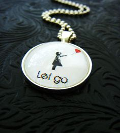 Banksy Heart Balloon Necklace