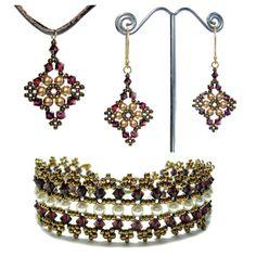 Boleyn Cuff, Earrings & Pendant Pattern Collection | Bead-Patterns