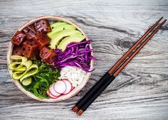 international food poke, PureWow.com  Poke bowls make me weak kneed.