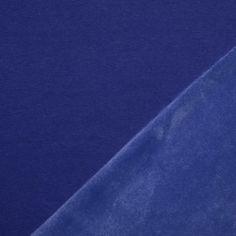 Alpenfleece Sweatshirt Stoff Kobalt