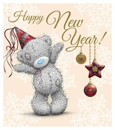 New Year Me to You Bear Card : Me to You Bears Online - The Tatty Teddy Superstore. Greetings Images, Happy New Year Greetings, Happy New Year 2019, New Year Wishes, New Year Card, Tatty Teddy, Urso Bear, Teddy Bear Pictures, Blue Nose Friends