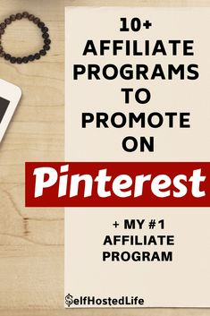 Affiliate marketing is one of the best ways to increase your passive income. I'm sharing 10 programs you can promote on Pinterest and the ONE that works best for me.
