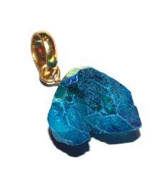 44x22 mm Angel Aqua Aura Crystal Quartz Pendant by RareGemsNJewels