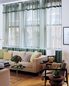 These look great with darker trim added. Embellished Curtains~Sheers are an inexpensive window covering, but they need not look drab -- allow them to serve as a canvas for your creative additions.