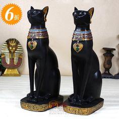 Feng Shui fortuna dios gato egipcio creativas decoraciones para el hogar en resina