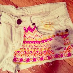 I am loving this whole patchwork shorts thing. These are to die for!