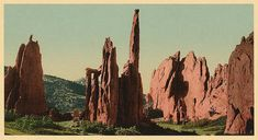 Cathedral Spires 1898. Vintage photo panorama by vintagephotograph