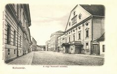 Kolozsvár:régi Nemzeti The old National Theatre. National Theatre, Historical Architecture, The Past, Old Things, Street View, Painting, Postcards, Painting Art, Paintings
