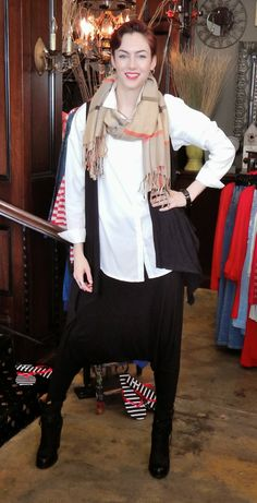 The Glamourai inspired look for today! Check out how we rocked our Black Harem Pants!