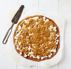 peanut butter marshmallow butterscotch pizza ~ http://iambaker.net