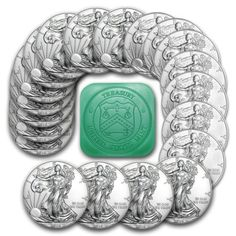 Special Price 2016 1 oz Silver American Eagle Coins BU Lot Roll Tube of 20 Silver Eagle Coins, Silver Eagles, Gold Coins, Bullion Coins, Silver Bullion, Coin Store, Coin Design, Rare Coins, Silver Bars