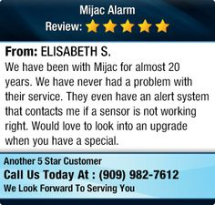 We have been with Mijac for almost 20 years. We have never had a problem with their... www.MijacAlarm.com