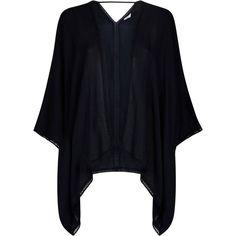 Accessorize Isla Short Beach Kimono ($11) ❤ liked on Polyvore featuring intimates, robes, short kimono, beach kimono, lightweight robe, short kimono robe and wrap robe