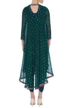 Best 12 Buy Sequin embroidered kurta with dhoti pants by Vvani by Vani Vats at Aza Fashions Pakistani Dress Design, Pakistani Dresses, Indian Dresses, Indian Outfits, Tunic Designs, Fancy Blouse Designs, Dress Designs, Frock Fashion, Indian Designer Suits