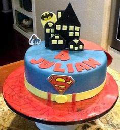 Superhero Cake by DREAMS IN SUGAR BAKERY Roseville, CA