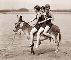 Summer fun from the 1920's today with this picture from Arlington Beach.