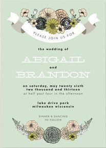 REVEL: Antique Bouquet Invitation