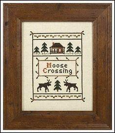 Moose Crossing - Cross Stitch Pattern by Prairie Grove Peddler, http://www.amazon.com/dp/B0036ZWMV6/ref=cm_sw_r_pi_dp_h4E4rb1AACM49