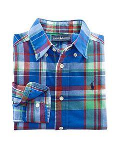 Ralph Lauren Childrenswear Boys' Blake Sport Shirt. I want my little man in this!