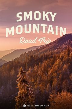 Smoky Mountains, North Carolina/Tennessee. A subrange of the Appalachian Mountains, the Smokies are a mountain range along the North Carolina–Tennessee border.