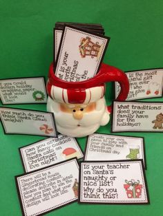 Christmas writing prompts.  Run! Miss Nelson's Got the Camera: Gift IDEAS cheap and easy!