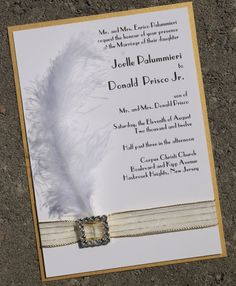 Roaring 20's inspired Wedding Invitation by atouchofsunshine1, $7.00