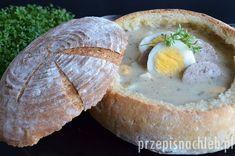 Chleb do żurku z dodatkiem zakwasu pszennego i drożdży. Oryginalna forma do podania np. wielkanocnego żurku lub barszczu białego. Bread, Baking, Breakfast, Kitchen, Food, Morning Coffee, Cuisine, Patisserie, Kitchens