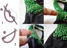 Como bordar el nudo frances