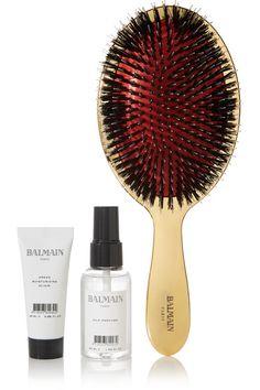 Balmain Paris Hair Couture | Gold boar bristle brush & haircare set | NET-A-PORTER.COM