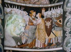 Fresco in Sant'Abbondio, Como, Italy (1340-1360)