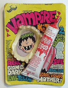 Vampire fangs & fake blood (1970's)