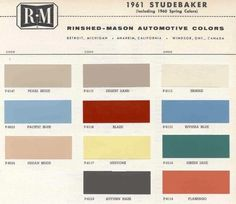 Two Years Vintage 1958 1959 Edsel Ditzler Color Chip Paint Sample