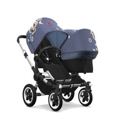 Free shipping and no sales tax on the Bugaboo Donkey2 twin stroller in botanic from Strolleria.