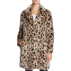 Bb Dakota Rooney Faux-Fur Leopard Coat $155