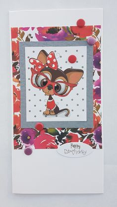 Flowery cuties – Inky fingered Cat Cute Little Dogs, Making Cards, Free Paper, Cute Cards, Scrapbooking, Vibrant, Colours, Cat, Floral