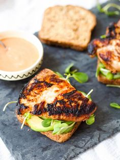 This miso grilled chicken sandwich with sriracha mayo is a flavor bomb of spicy, smoky, and fresh flavors!
