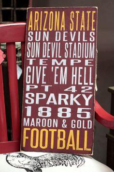Arizona State University Distressed Decorative Sign on Etsy, $65.00