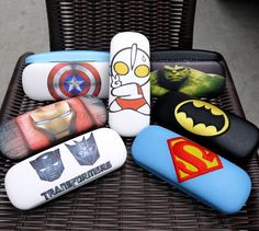 Zakka Super man eyeglass case ,transformers box Ultraman eyeglass case carton